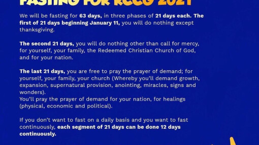 DON Weekly Newsletter - 63 days Global RCCG fast